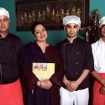  Cooks with the owner Anita Agnihotri who was Miss India 1973