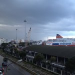 Patras port from hotel' s window