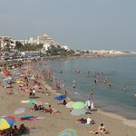                    The beach area of Benalmadena .