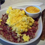                    Corned beef has w/hollandaise on side