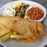 battered haddock £7.95
