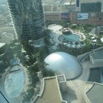  another view from the room - oval pool is same shape as Crown building