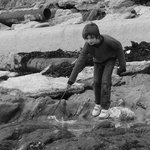 Boys just love a rockpool, even in winter