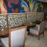Booths in breakfast area