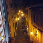                    Night street view from our room window.