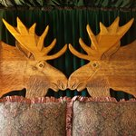  Moose room headbord on the 2nd floor of the Lodge.