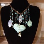 handmade necklaces by local artists