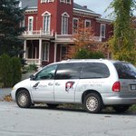The SK-Tours van in front of Stephen King's house.