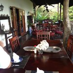 The veranda, where all the meals take place