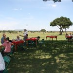 Lunch in the middle of the Mara!! AMAZING