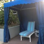 Cabanas at the pool