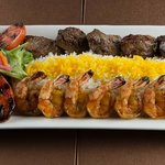  Shrimp and Shish Combo