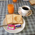 Standard American b'fast provided daily