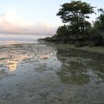                    seaside at 6 am -lowtide and the way to white beach