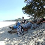  Taking a lite lunch break while hiking the unspoilt Wild coast from The Haven Hotel.