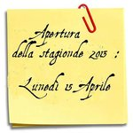 Apertura della stagione 2013