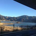 the view from the restaurant - lake kawaguchi