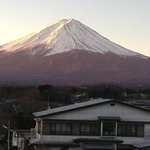  mt fuji at dawn - taken from our balcony