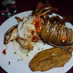 The famous grilled lobster ( langosta)
