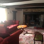  large lounge and wood burner