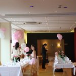                    our wedding reception preparation by our lovely bridemaids and staff