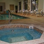 Enjoy our inviting indoor heated pool and spa