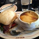 Chicked club - vg, french onion soup - ok