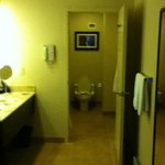 Split bathroom -Sink/dressing area in separate room from bath/toilet.SO CONVENIENT for getting r