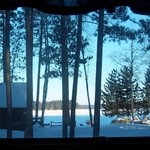 Morning view from porch in cabin 5
