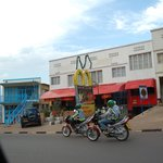 Kigali town.  Note the McDonalds