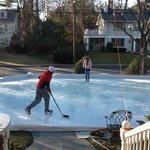 Backyard rink in the front yard