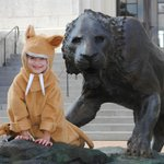 Normally there aren't 2 sabertooth tigers out front....