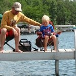  Dock fishing with dad