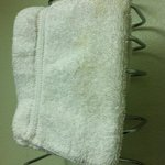 dirty hand towels in the room! Yuck!