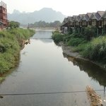 View from bamboo bridge