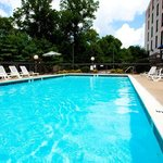 Our seasonal outdoor pool is perfect for morning exercise.