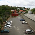  carpark as viewed from window of room