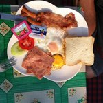 Our American breakfast that we selected from the menu