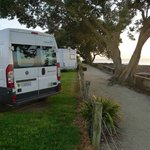  Our foreshore campervan site at Takapuna Holiday Park