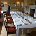 The breakfast table in the Salutation main house