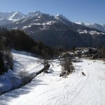 View from balcony down to the Jouvenceaux chair lift