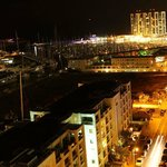  View of the marina at night