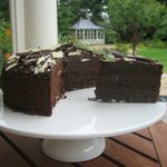  Chocolate Cake from The Cake Fairy - on the terrace at The Dulaig