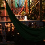 Hammocks on the front porches
