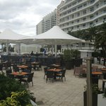  A view of the 7th floor pool and outdoor restaurant