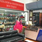 The Handicraft stall & reception area