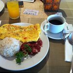  our filipino breakfast that took more than 30 mins to reach our table