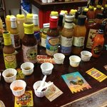 Sampling spices and sauces