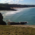 View from our walk over the cliff walk at side of hotel back towards Newquay