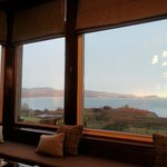 Part of the panoramic view from the lounge which we enjoyed with a whisky in hand!